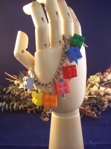 Colorful Lego Brick Charm Bracelet