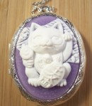 Lucky Cat Cameo Locket
